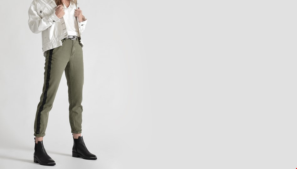 MILITAIRE LEGEND HIGH WAIST MOM PANT