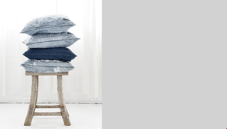 MIDNIGHT DENIM EUROPEAN CUSHION COVER